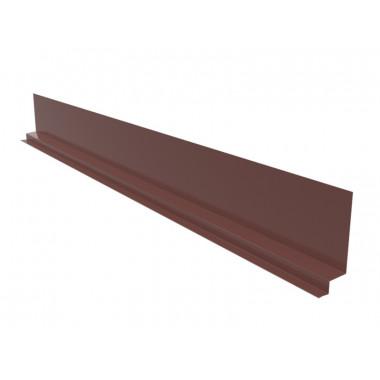 Примыкание продольное для фальцевой кровли Оptima Steel 0,45 ZN100 Polyester