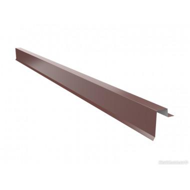 Торцевая планка для фальцевой кровли Оptima Steel 0,45 ZN100 Polyester